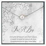 Idea regalo 'Grace of Pearl' per mamma e neonato, con citazione 'It's a boy' per mamma, regalo per mamma con bambino