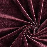 Fabulous Fabrics Samt aubergine, Uni, 150cm breit –