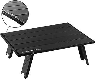 Rock Cloud Folding Beach Table Aluminum Portable Camping Table Ultralight, Black