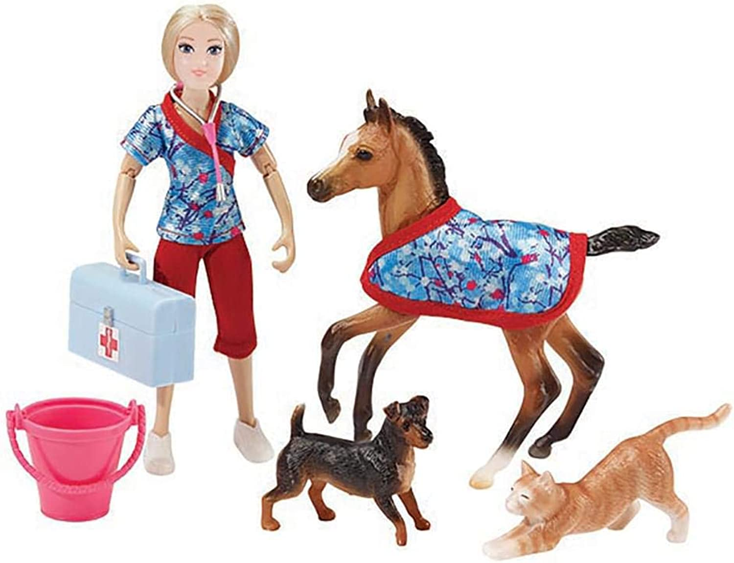 Breyer Day at The Vet Doll & Animals Set