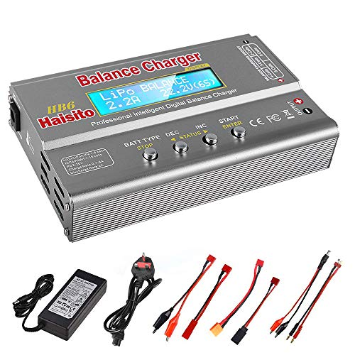 Haisito 80W 6A Lipo Battery Balance Charger Discharger for LiPo/Li-ion/LiFe...