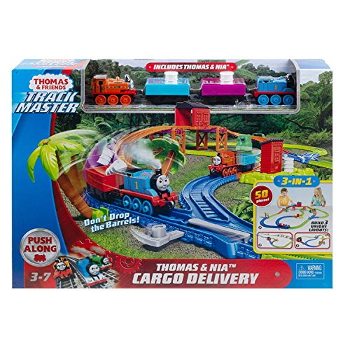Thomas & Friends GLL14 Trackmaster Thomas & Nia Cargo Delivery Spielset, Mehrfarbig