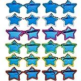 Carnavalife Pack de 12 Gafas de Disfraz para Fiesta, con Diseño Atrevido de Estrellas, Aniversario, NocheVieja y...