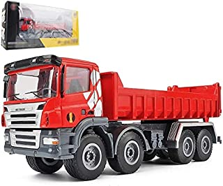Zhangl 1:50 Dump Truck Model At Construction Site Simulation Engineering Vehicle Toy Alloy Pull Back Boy Dump Truck Toy Me...