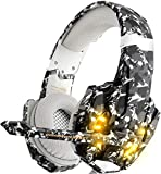 Gaming Headset für PS4 Xbox One PC, DIZA100 Gaming Kopfhörer mit Mikrofon, LED Light Bass...