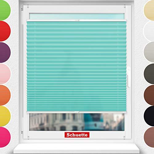 Schuette® Estor plisado sin agujeros ● Colección Premium: Blue Ocean (turquesa) ●...