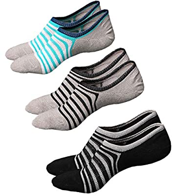 Toes Home Women Pack of 3 to 6 No Show Socks Sport Low Cut Cotton Non Slip Socks