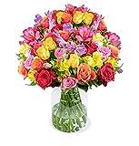 Rosenglück XXL, 120 Blüten, Rosen-Inkalilien-Mix mit 35 Stielen, 50 cm länge, 7-Tage-Frischegarantie, versandkostenfrei bestellen