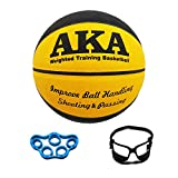 AKA Weighted Leather Basketball Training Set Bundle| Heavy Basketball Equipment Bundle | 3lbs 29.5'' Size 7 Heavy Basketball | Basketball Dribbling Goggles | Ball Pump|