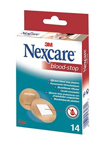 Nexcare N1714NS Blood Stop Spots Blutstillende Pflaster, 14 Stück