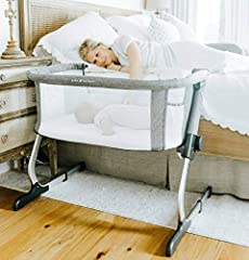 SAFE and COMFORT- Sleep soundly knowing that your baby is safer and comfortable MOBILE- It is lightweight enough to move from room to room for convenience. ADJUSTABLE- 6-positions allow height adjustment to adapt the sleeper height to most adult beds...