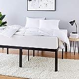 Amazon Basics Heavy Duty Non-Slip Bed Frame with Steel Slats, Easy Assembly - 18'H, (Full)