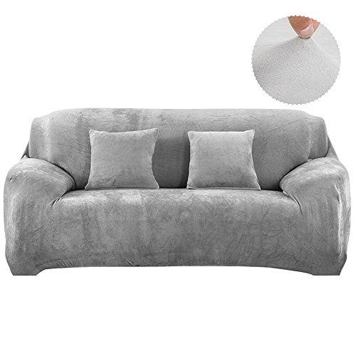 Copridivano in velluto elastico, fodera protettiva da divano, aderente e facile da mettere, in tessuto elasticizzato