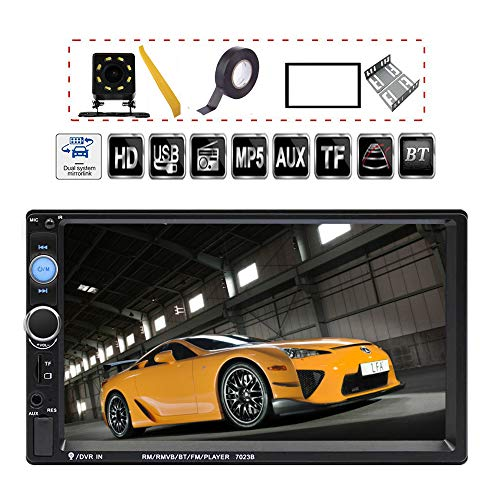 TDYJWELL 7 inch Double Din Touch Screen Car Stereo Upgrade The Latest Version MP5/4/3 Player FM...