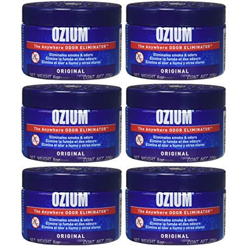Ozium 806326 Large Gel 8oz Smoke & Odors Eliminator (Pack of 6)