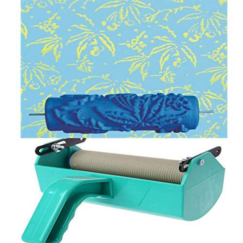 HKDJ-16 cm patroon reliëf verfroller wallpaper tool voor doe-het-zelf wandontwerp met afzonderlijke kleuren decoratie schildermachine