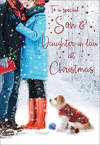 Christmas Card Son & Daughter in Law - 9 x 6 inches - Regal Publishing