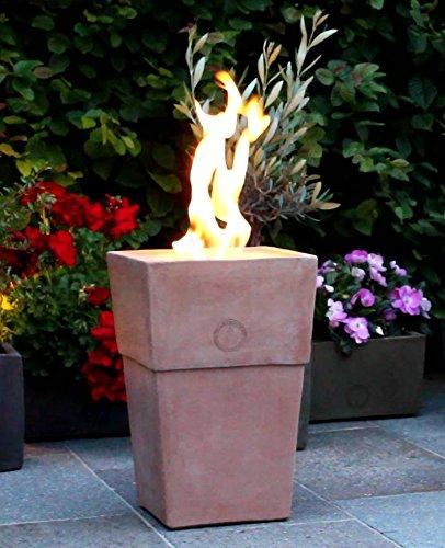 Flammentopf Firenze Rosso, Bio-Ethanol Feuerstelle aus Impruneta Terrakotta
