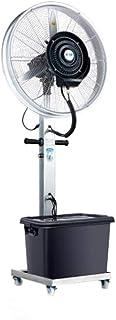 Ventilador/nebulizador para uso profesional/Ventiladores de pedestal/Ventilador Industrial de pie /3 Velocidades/deposito Agua 42 litros/Negro