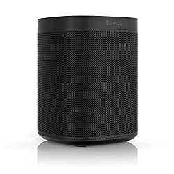 All-new Sonos One – The Smart Speaker for Music Lovers with Amazon Alexa built for Wireless Music Streaming and Voice Control in a Compact Size with Incredible Sound for Any Room. (Black)
