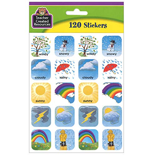 Teacher Created Resources Weather Stickers, Multi Color (1261) Photo #2