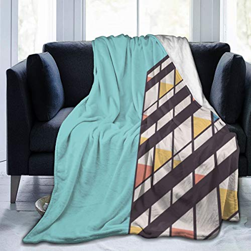 Zul Le Corbusier Super Soft Throw Blanket Warm Cozy Lightweight Fluffy Blanket for Bed Sofa Couch Cover Living Bed Room Black Throw Blanket 80x60 Inch