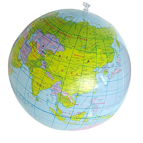 Barley33 40 cm aufblasbare weltkugel lehren Bildung geographie Spielzeug Wasserball globus Spielzeug für pädagogische