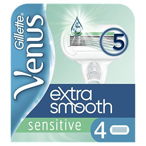 Gillette for Women Venus Extra Smooth Sensitive Systemklingen, 4 Stück