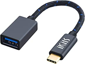 iKits USB C OTG Cable, USB 3.1(GEN 1) Type C Male to USB 3.0 A Female Adapter Compatible with DeLL XPS 15/13,MacBook pro 2018/2017,Galaxy S9/S8/Note9/8,Google Pixel 2XL,Nexus 6P,LG V20 G5,etc. 0.5ft