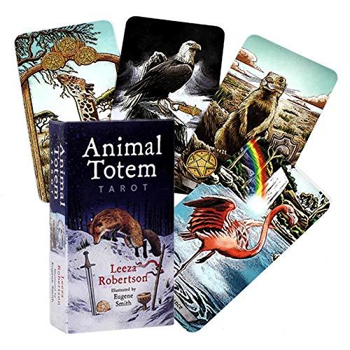 EDOSTORY Tarotkarte,78Pcs / Set, Tier Totem Tallo, Interessantes Schachbrettspiel, Tarot-Kartenspiel, Erwachsenen-Karten-Spielberatung,Animal Card