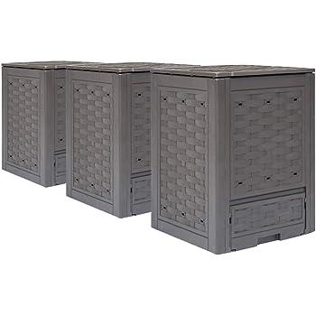 Vidaxl 3x Gartenkomposter Schnellkomposter Thermokomposter Komposter Kunststoffkomposter Kompostbehalter Kunststoff Braun 60x60x83cm 900l Amazon De Kuche Haushalt