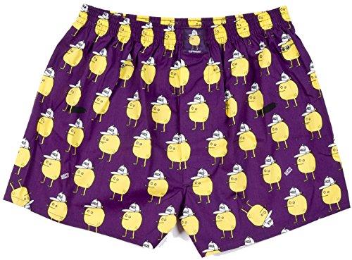 Lousy Livin Underwear Herren Boxershorts Zitrone Purple Gr. XL