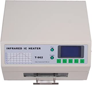 Autovictoria Reflow Infrared Heater Máquina de soldadura por Reflujo T962 Horno de Reflujo 800W 180 x 235 mm Máquina de Soldadura de Calentador Infrarrojo Automático (T962)