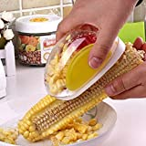 Corn Stripper, Corn Peeler, Corn Cutter, Corn Cob, Corn Shucker Remover, Quick Corn Cob Remover, Kitchen Cooking Tools with Hand Protector, Corn Stripping Tool