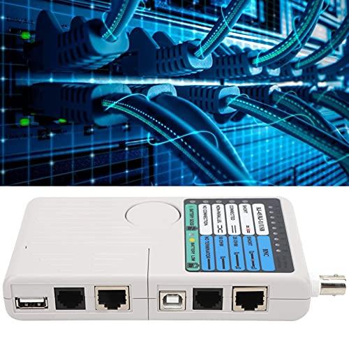 Nunafey Probador de Cable Ethernet, probador de Red portátil Professiponal para Cable...