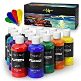 Magicfly Bulk Acrylic Paint Set, 14 Rich Pigments...
