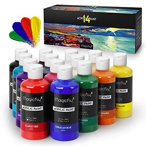 MAGICFLY Bulk Acrylic Paint Set