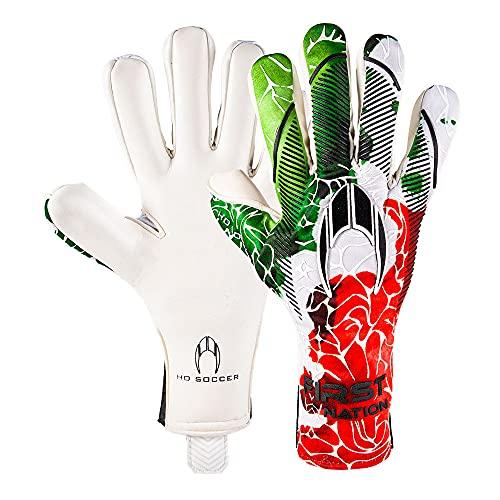 Ho Soccer FIRST NATION NEGATIVE IT Guanti da portiere, unisex, per bambini, bianco/verde/rosso, 6