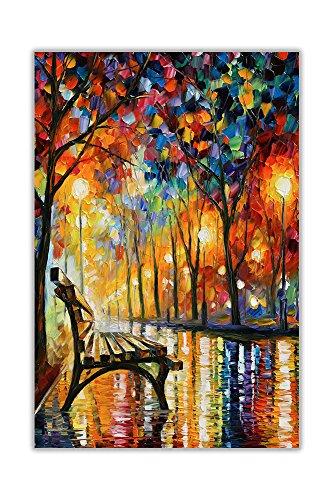 AT54378D Poster / Wandbild, Motiv Loneliness Autumn von Leonid Afremov, Nachdruck, Hausdekoration, Größe A1 (59,4 x 84,1 cm)