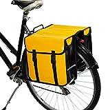 BikyBag Waterproof Classic Double Pannier Bag Bicycle Cycle Bike Shopping (Yellow)