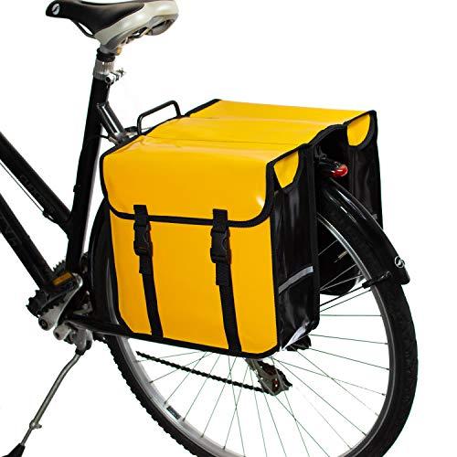 BikyBag Impermeabile - Borse Doppio Portapacchi Fashion Bicycle Cycle Bike da Donna - Uomo (Giallo)