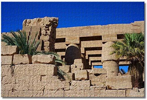 Puzzle- Egipto Karnak Temple Rompecabezas para Adultos Niños 1000 Piezas Juego de Rompecabezas de Madera para Regalos Decoración del hogar