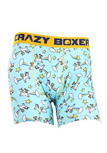 Crazy Boxers Farting Unicorn Mens Boxers Briefs - M