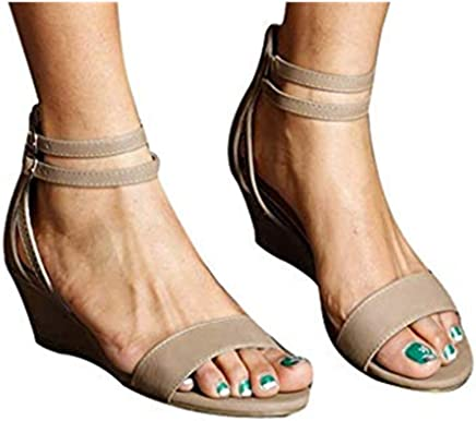 Car Electronics & Accessories Cewtolkar Womens Sandals Summer Thick Open Toe Two Wear Square Toe Roman Sandals Casual Party Shoes