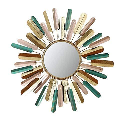 ZHENAO Ilustraciones Pared Del Metal de Pared Decorativos Espejo, Color Sunburst Espejo de Pared, para Modern Boho Decoración de la Sala de Estar, Baño, Dormitorio, Home Collection