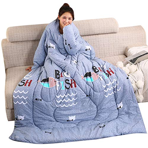 Juntful Lazy Colcha con mangas cálida gruesa multifunción suave para el hogar invierno siesta