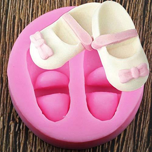 WYNYX Zapatos de bebé3DArco Moldes de Pastel de Silicona Pasta de Goma Molde de Caramelo de Chocolate Herramientas de decoración de Pasteles Fondant
