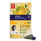 Saffola FITTIFY Gourmet Superfood Moringa Green Tea, Honey Lemon, 15 Tea Bags, 37.5 gm