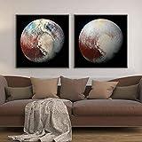 OKYQZ Planeten Wandkunst Klarstes Foto von Pluto Leinwand