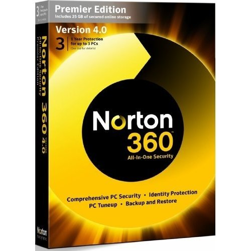 Norton 360 v4.0 Premier Edition - 1 User 3 (PC) [import anglais]